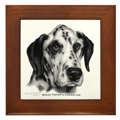 Friday, Dalmatian Framed Tile
