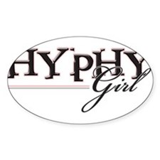 Hyphy Girl Oval Decal