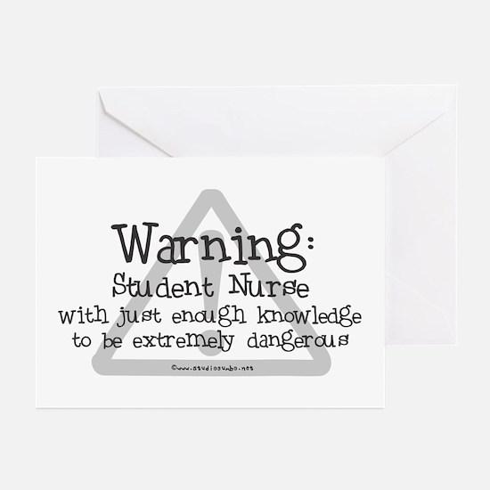 Student Nurse Warning Greeting Cards (Pk of 10)