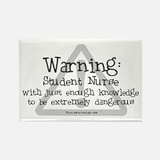 Student Nurse Warning Rectangle Magnet (10 pack)