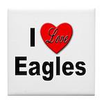 I Love Eagles for Eagle Lovers Tile Coaster