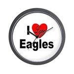 I Love Eagles for Eagle Lovers Wall Clock