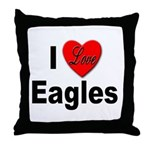 I Love Eagles for Eagle Lovers Throw Pillow