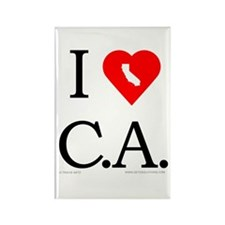 I Love CA Rectangle Magnet