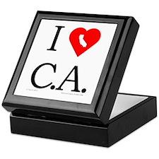 I Love CA Keepsake Box