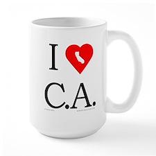 I Love CA Mug