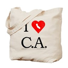 I Love CA Tote Bag