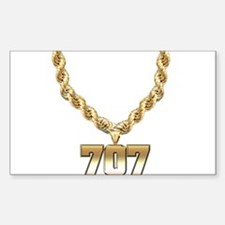 707 Gold Chain Rectangle Decal