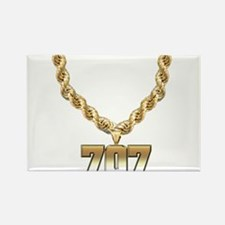 707 Gold Chain Rectangle Magnet