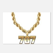 707 Gold Chain Postcards (Package of 8)