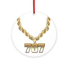 707 Gold Chain Ornament (Round)