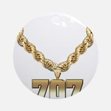 707 Gold Chain Ornament (Round)
