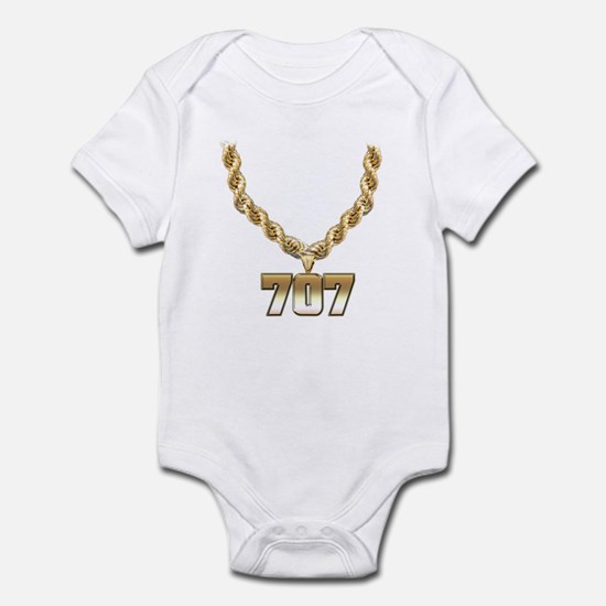 707 Gold Chain Infant Bodysuit
