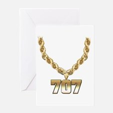 707 Gold Chain Greeting Card
