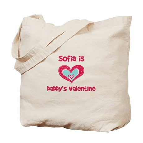 Sofia is Daddy's Valentine Tote Bag
