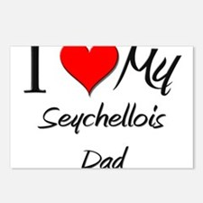 I Love My Seychellois Dad Postcards (Package of 8)