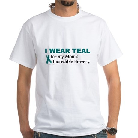 Teal For My Mom's Bravery 1 White T-Shirt