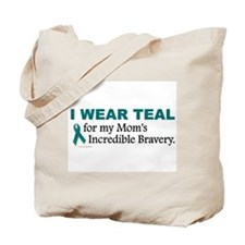 Teal For My Mom's Bravery 1 Tote Bag