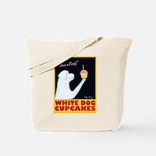 White Dog Cupcakes Tote Bag