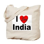 I Love India Tote Bag