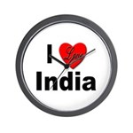 I Love India Wall Clock