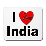 I Love India Mousepad