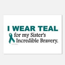 Teal For My Sister's Bravery 1 Postcards (Package