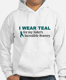 Teal For My Sister's Bravery 1 Hoodie