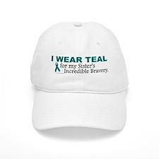 Teal For My Sister's Bravery 1 Baseball Cap