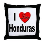 I Love Honduras Throw Pillow