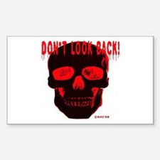 DONT LOOK BACK Rectangle Decal