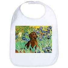 Irises & Dachshund (#1) Bib