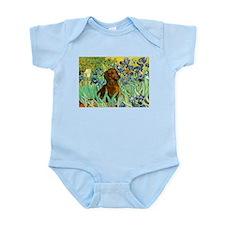 Irises & Dachshund (#1) Infant Creeper