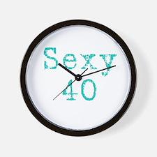 Sexy 40 Wall Clock