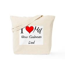 I Love My New Guinean Dad Tote Bag