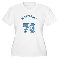 Officially 73 Women's Plus Size V-Neck T-Shirt