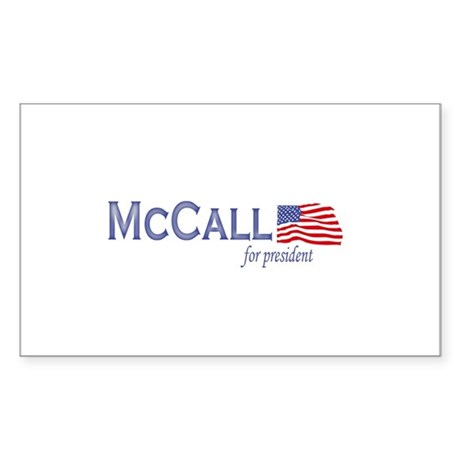James H. McCall for president Sticker (Rectangular
