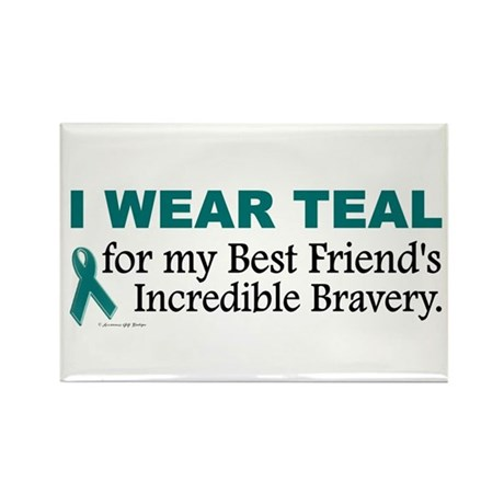 Teal For My Best Friend's Bravery 1 Rectangle Magn