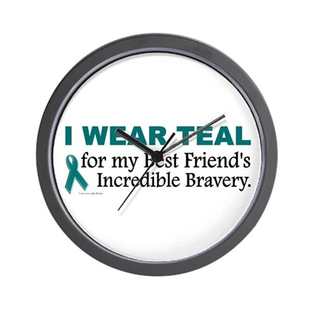 Teal For My Best Friend's Bravery 1 Wall Clock