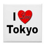 I Love Tokyo Tile Coaster