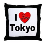 I Love Tokyo Throw Pillow