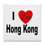 I Love Hong Kong Tile Coaster