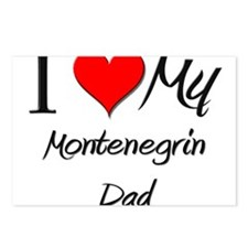I Love My Montenegrin Dad Postcards (Package of 8)