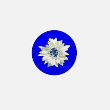 Pop Art Daisy, Jewel Center, Blue Background Mini