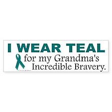 Teal For My Grandma's Bravery 1 Bumper Bumper Sticker