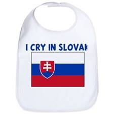 I CRY IN SLOVAK Bib