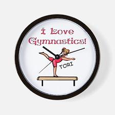 I Love Gymnastics (Tori) Wall Clock