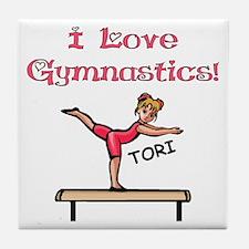 I Love Gymnastics (Tori) Tile Coaster