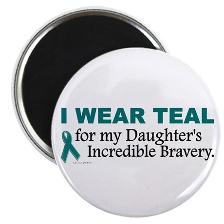 """Teal For My Daughter's Bravery 1 2.25"""" Magnet (10"""