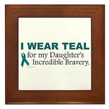 Teal For My Daughter's Bravery 1 Framed Tile